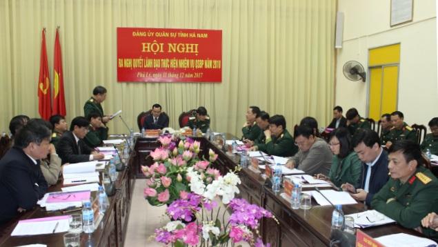 Đảng ủy Quân sự tỉnh Hà Nam triển khai thực hiện nhiệm vụ quân sự, quốc phòng năm 2018.